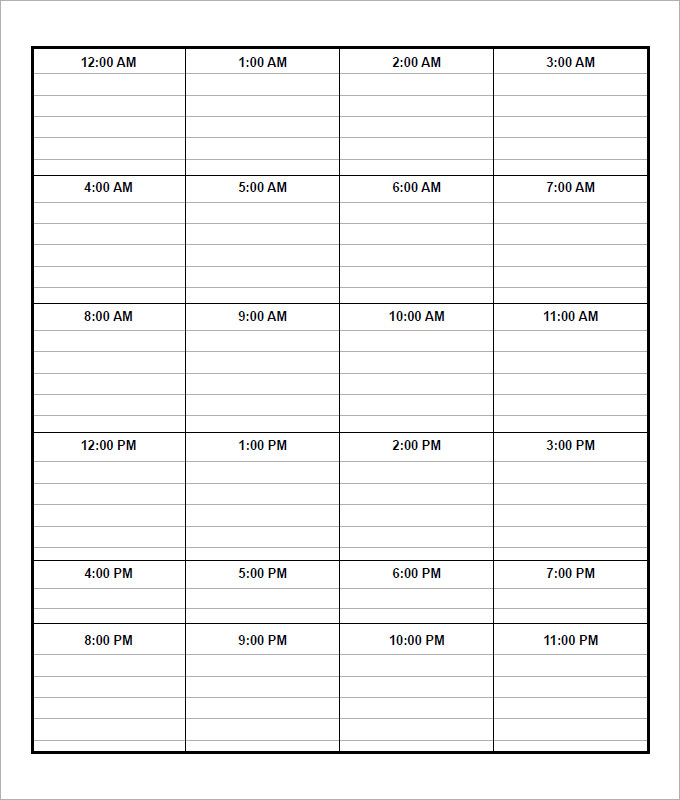 daily time planner