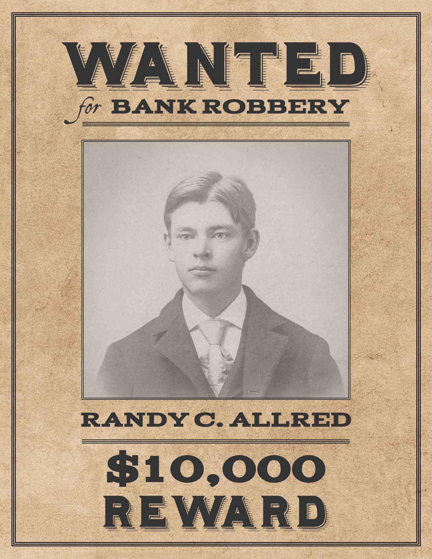 Make A Wanted Poster Online Free. Wanted Poster Templates ...  Printable Wanted Poster Template