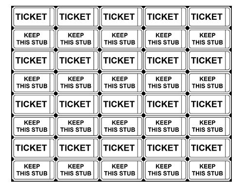 printing raffle tickets at home