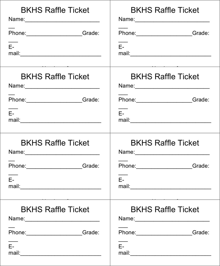 Raffle ticket templates word templates docs for Free printable raffle ticket template