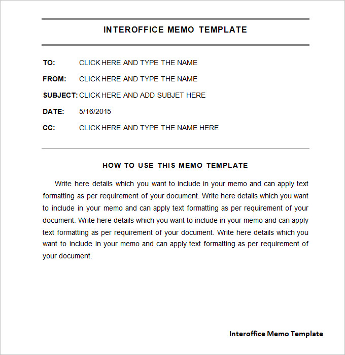 Memo Template Free Download  BesikEightyCo