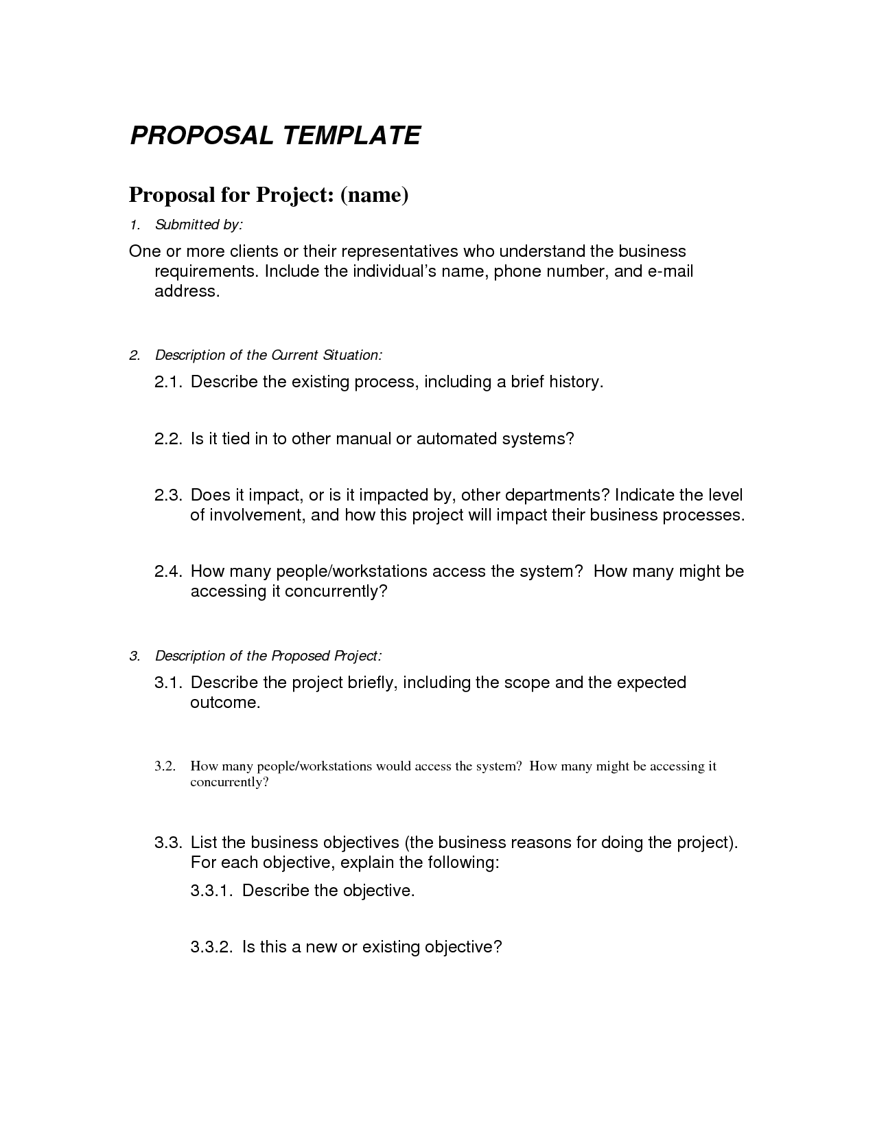 Project proposal template word radiotodorock accmission Images