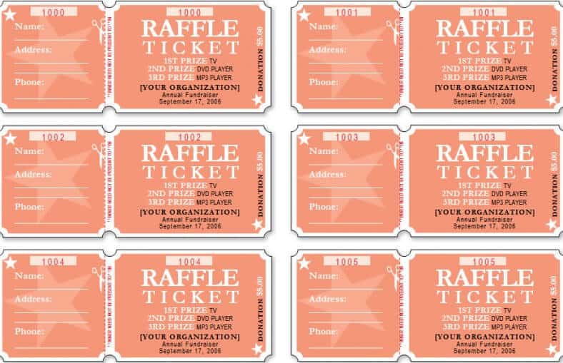 Raffle Ticket Templates Word Templates Docs - Ticket template word