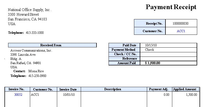 Receipt Of Payment Templates - Word Templates Docs