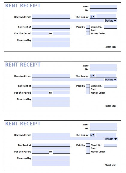 free receipt of payment templates