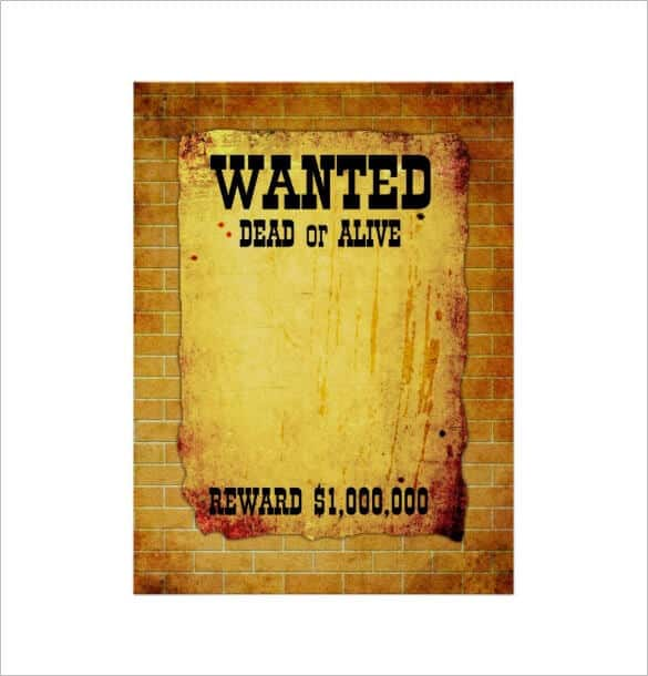 Resource image in free wanted poster template printable
