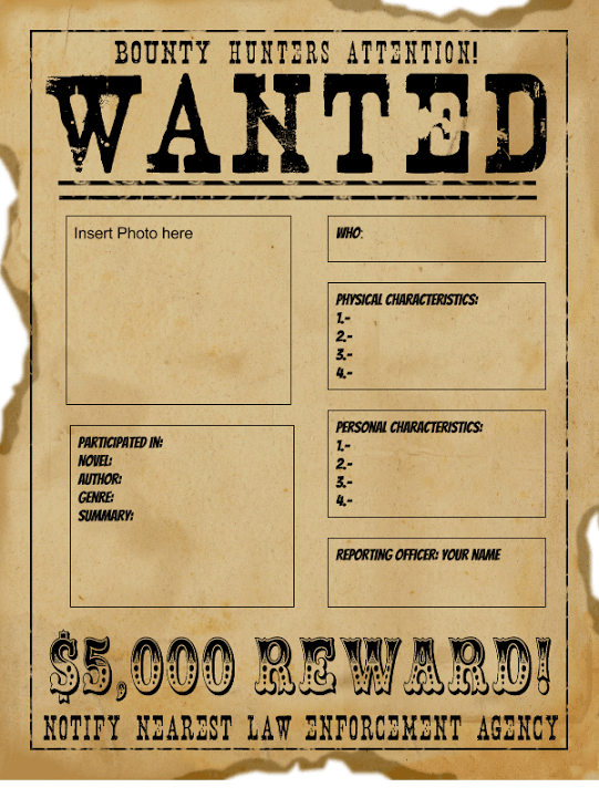 Beaufiful Wanted Poster Template Pictures >> Wanted Poster Template ...