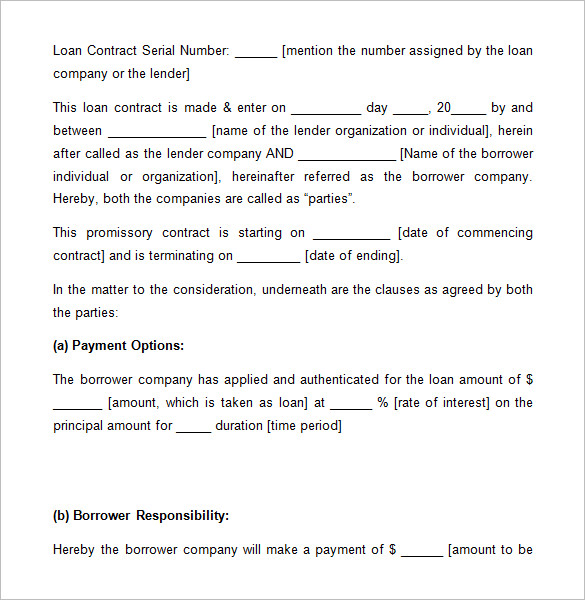 5 Free Loan Agreement Templates Word Excel Formats
