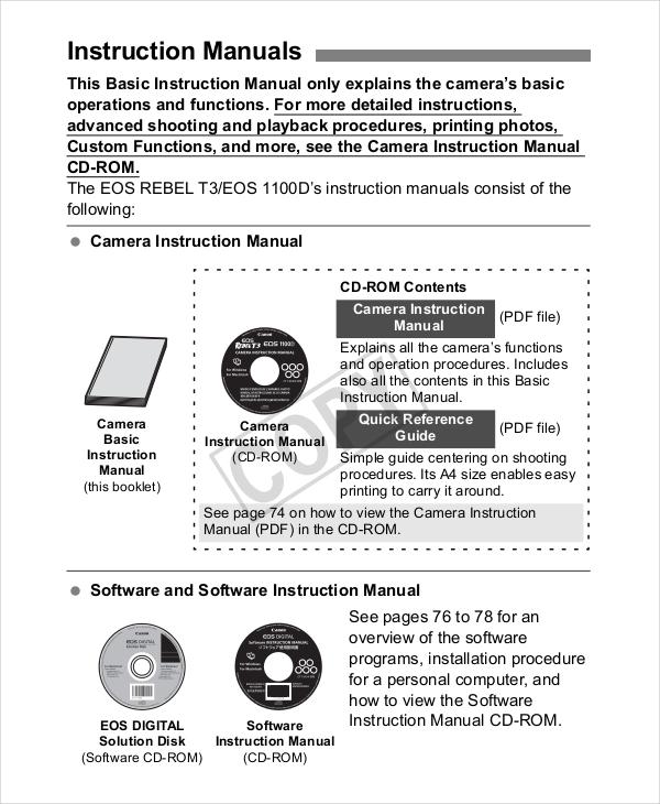 11  free instruction manual templates word pdf