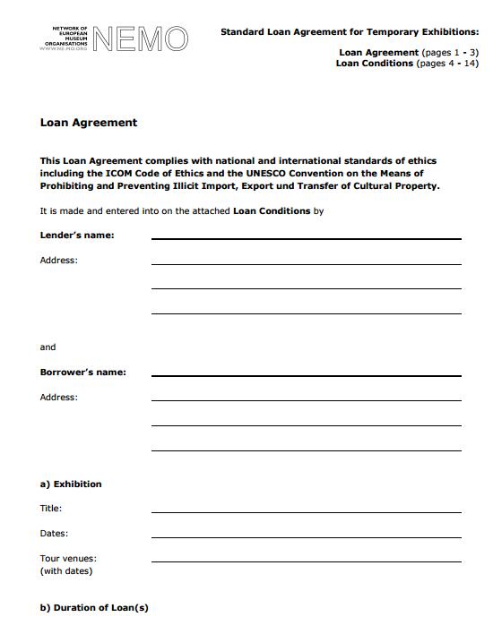 5 free loan agreement templates word excel formats. Black Bedroom Furniture Sets. Home Design Ideas