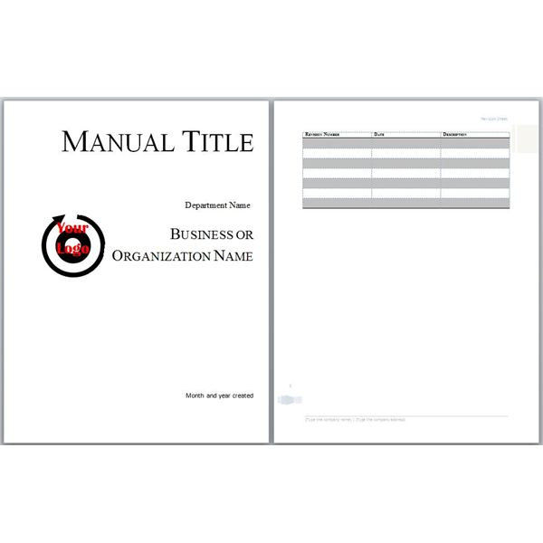 User Manual Templates - Word Excel Formats