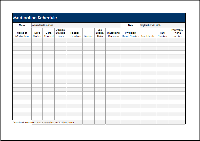 Crush image with medication schedule printable
