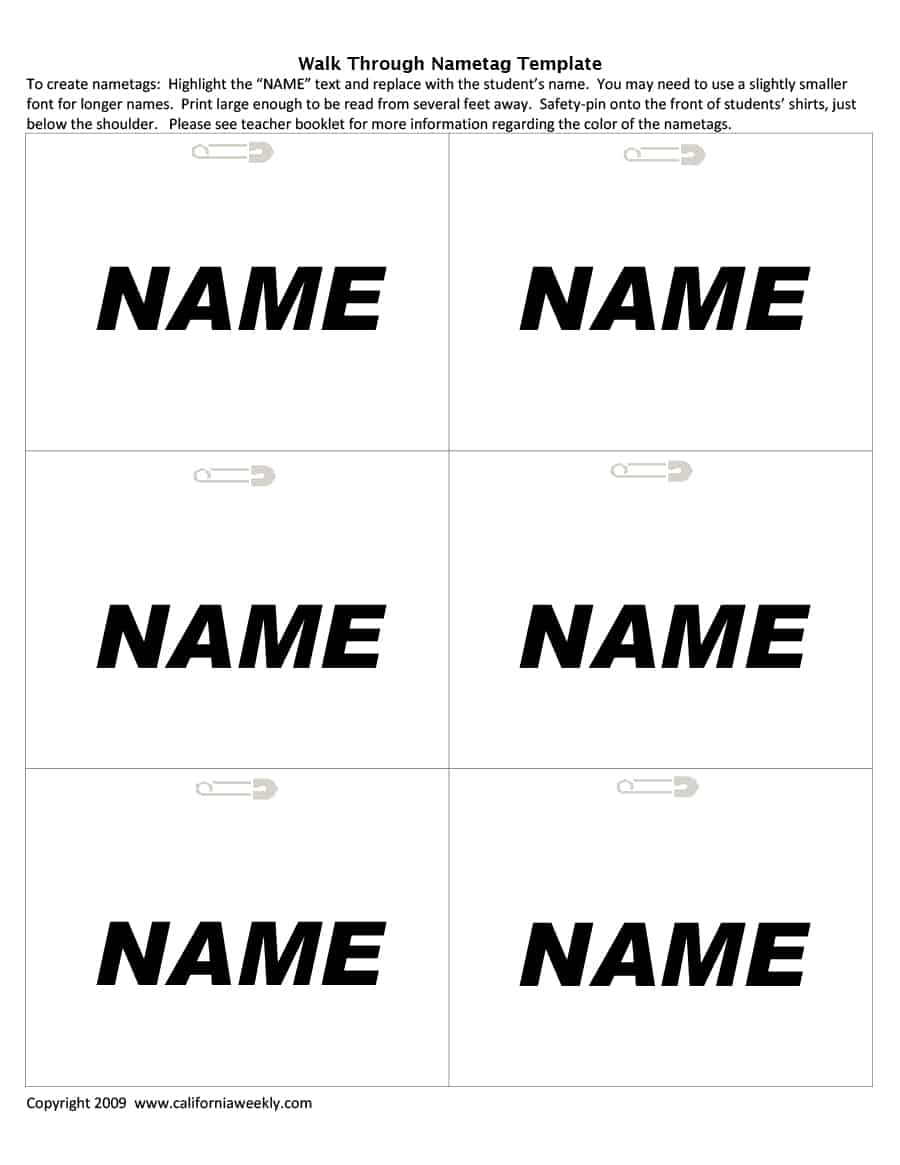 Free Printable Id Badge Template from www.wordtemplatesdocs.org