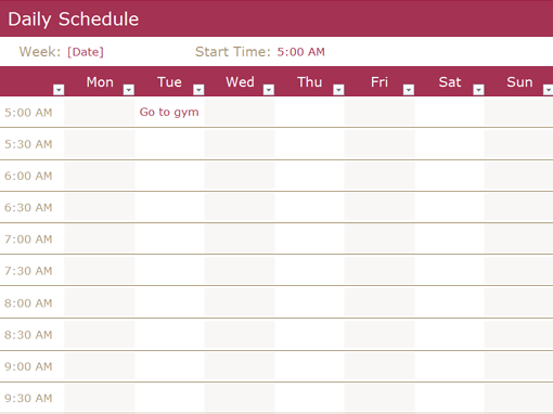 24  free daily schedule templates  u0026 daily planners word excel pdf