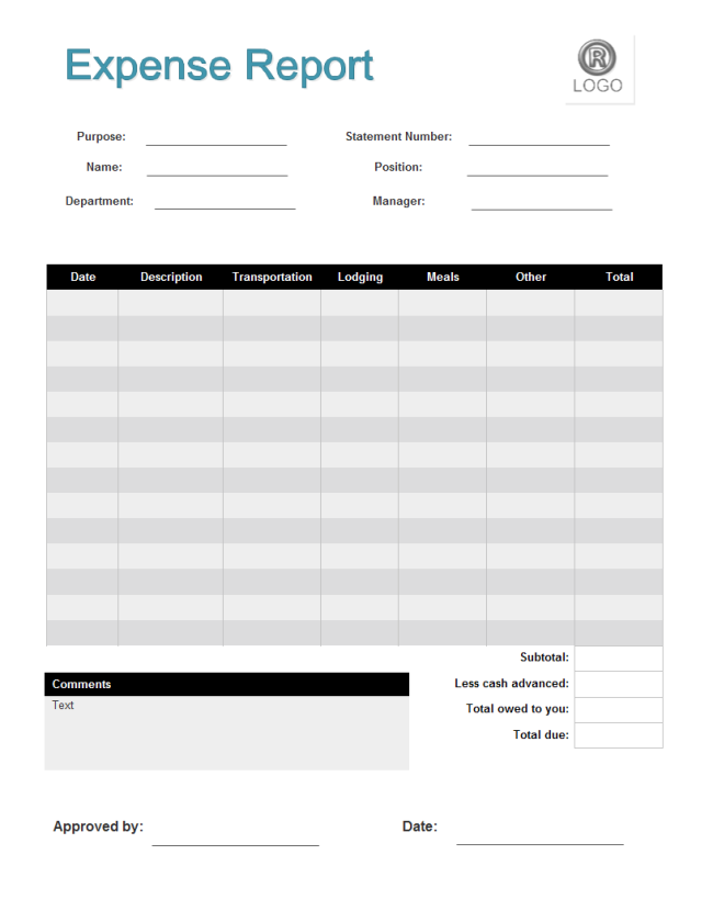 28+ Expense Report Templates - Word Excel Formats