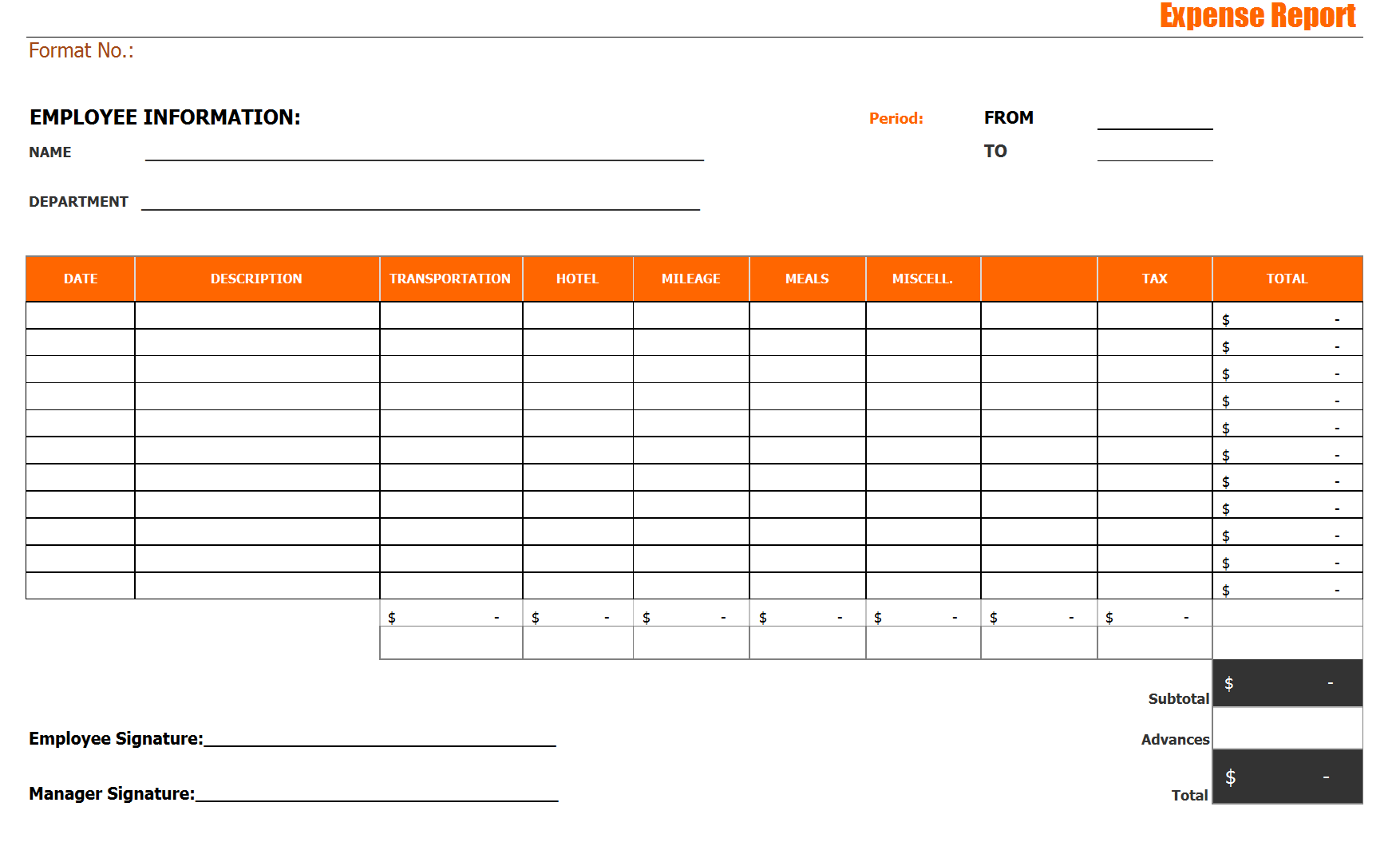 28 Expense Report Templates Word Excel Formats