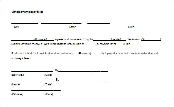 12 Promissory Note Templates Samples In Microsoft Word