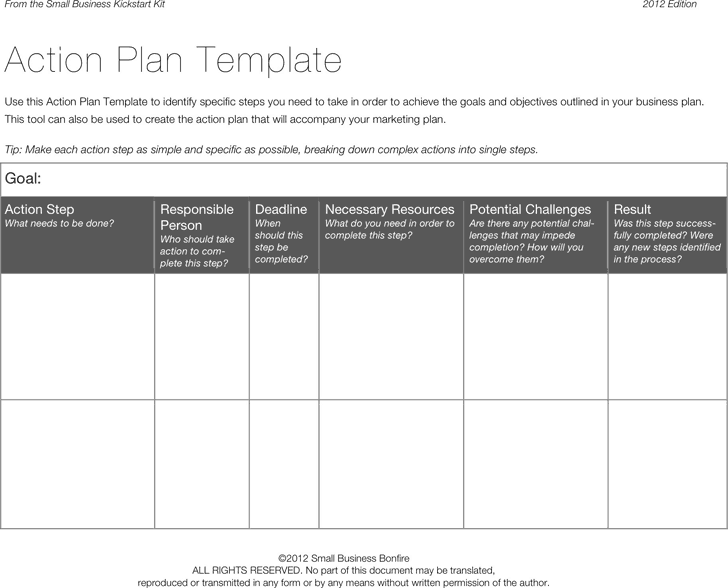 3 Word Excel Action Plan Templates Excel Word Pdf