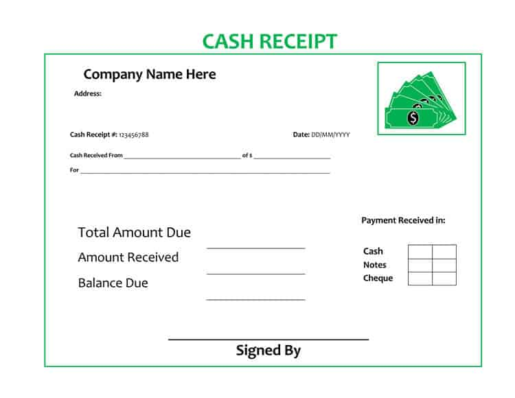 5 Free Receipt Of Payment Templates in Word Excel PDF formats
