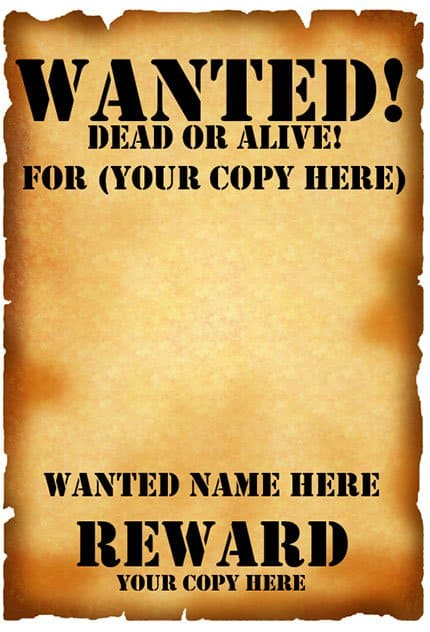 7  free wanted poster templates pdf word