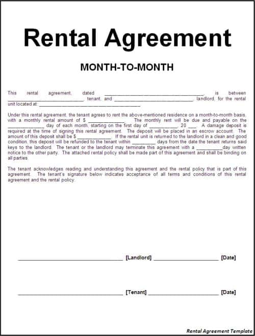 8 Room Rental Agreement Templates In Microsoft Word