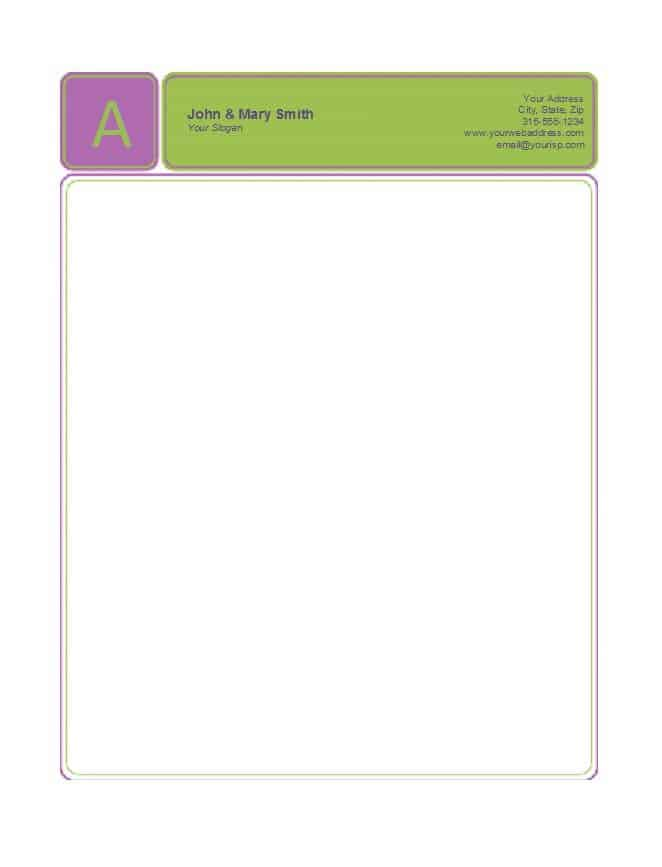 11 Pany Letterhead Templates Word PDF Word Excel Formats
