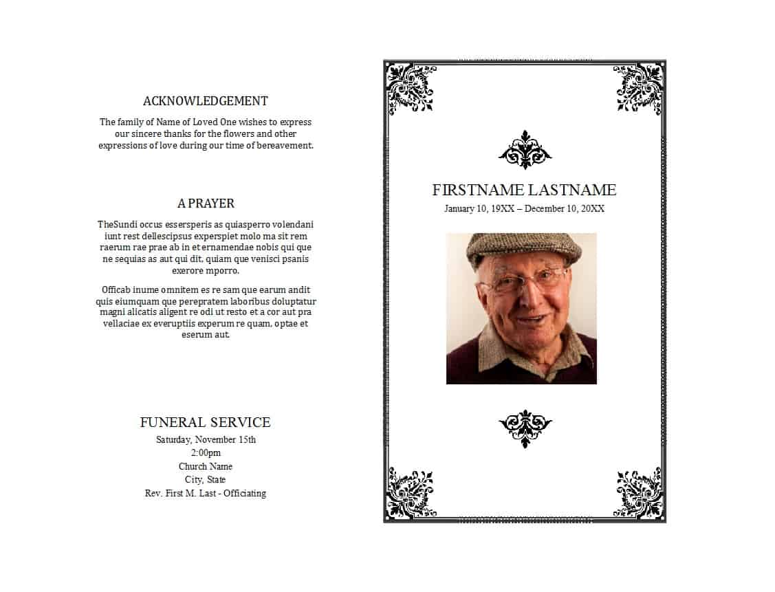 Free Funeral Program Template Download from www.wordtemplatesdocs.org