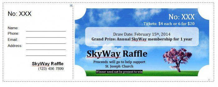 21+ Free Sample Raffle Ticket Templates in Different Formats