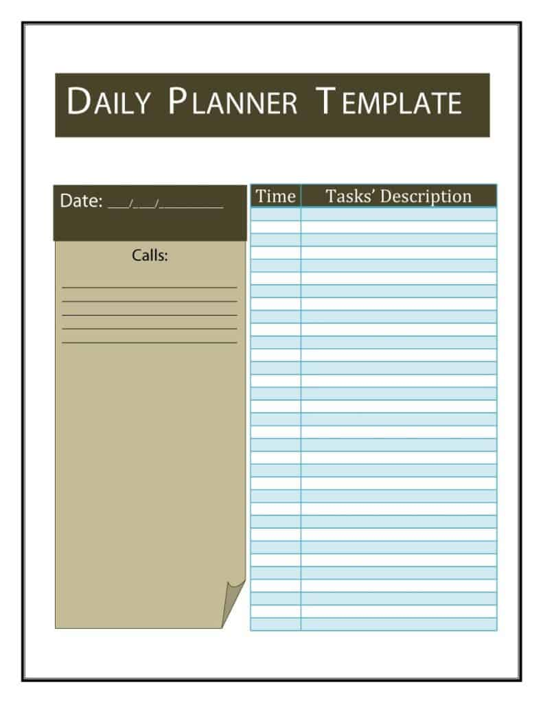 24+ Free Daily Schedule Templates & Daily Planners Word