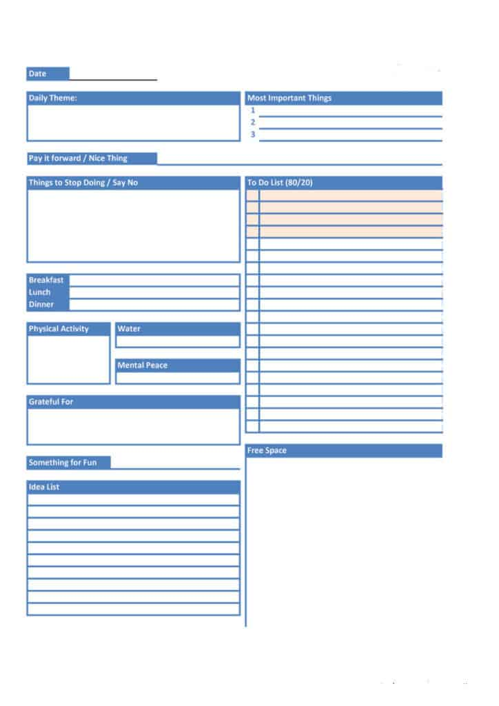 24 Free Daily Schedule Templates Daily Planners Word Excel Pdf