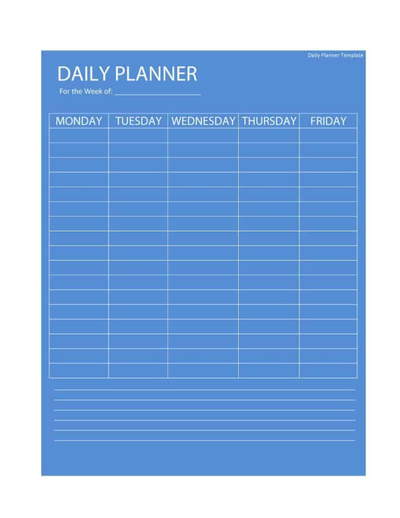 24+ Free Daily Schedule Templates & Daily Planners Word Excel PDF